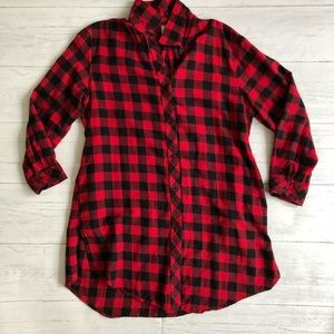 S&A Red Checkered Flannel